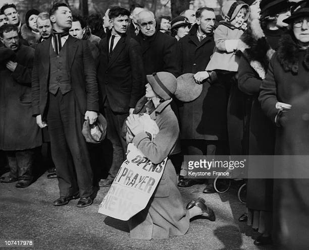Demonstration Against Capital Punishment At Wandsworth Prison In London On April 2Nd 1935