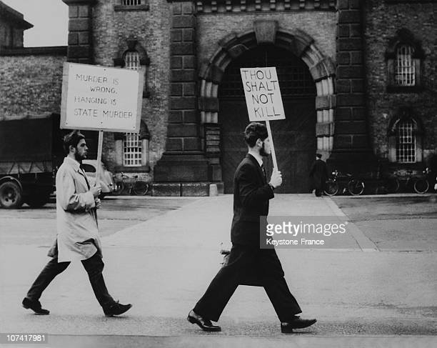 Demonstration Against Capital Punishment At Wandsworth Prison In London On November 6Th 1959