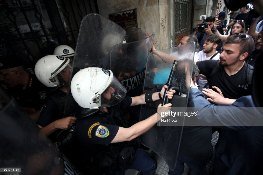 Demonstration Against Electronic Property Auctions In Athens