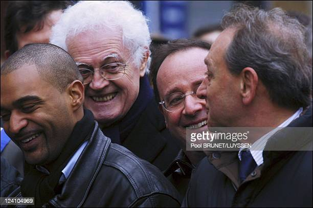 Demonstration against racism and antisemitism in memory of Ilan Halimi in Paris France on February 26 2006 Lionel Jospin Dominique Sopo Francois...