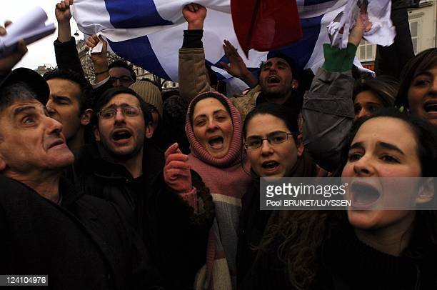 Demonstration against racism and antisemitism in memory of Ilan Halimi in Paris France on February 26 2006