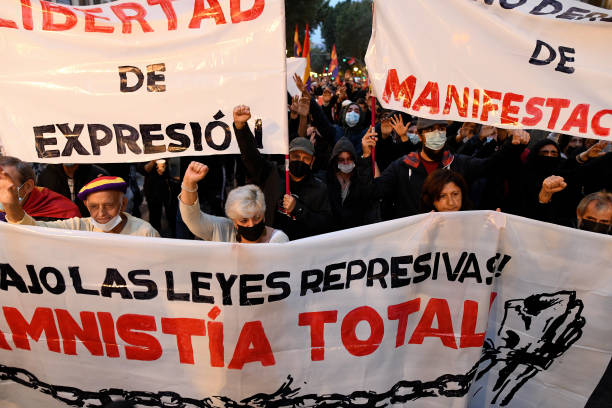 ESP: Demonstration Against Repressive Laws  In Central Madrid
