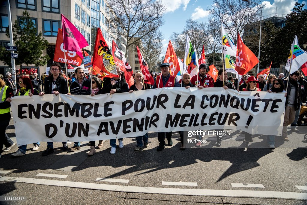 FRA: Demonstration Against The Government's Policy At The Call Of Several Unions Including FO And CGT In Lyon