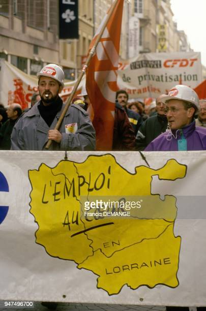 Demonstration Against The Privatization Of Usinor March 3 1995