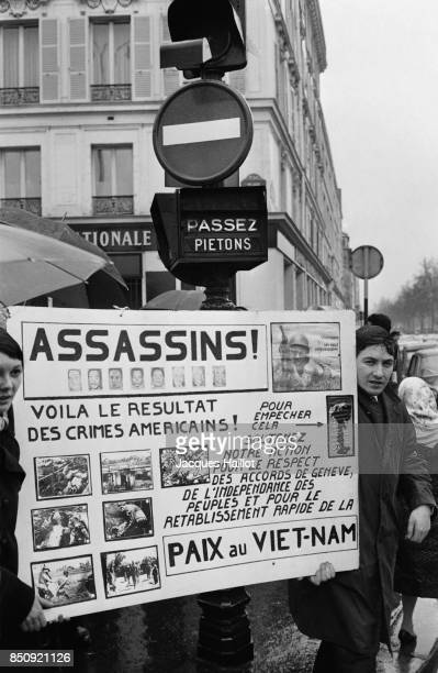 Demonstration against the Vietnam War in Paris