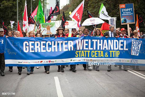 Demonstration against TTIP and CETA in Frankfurt, Germany