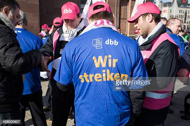 Demonstration and union strike action in german public services