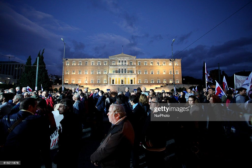 Protest against austerity in Athens : News Photo