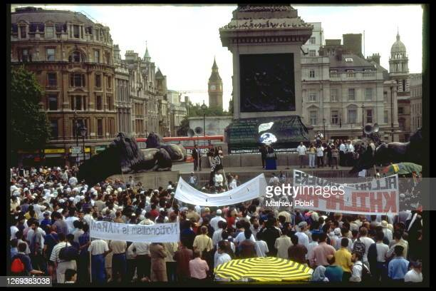 Demonstration By Islamic Extremists In Trafalgar Square