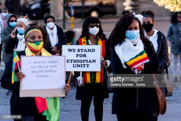 Demonstration by the Ethiopian Community of Rome in support of Prime Minister Abiy Ahmed and in honour of the Ethiopian National Defence Forces and...