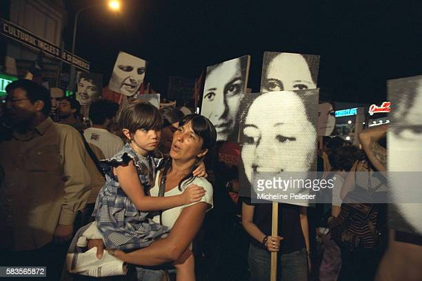 Demonstration by the Mothers of the Plaza de Mayo and members of the organisation HIJOS