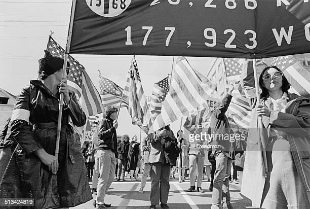 A demonstration during the Vietnam War USA 1968