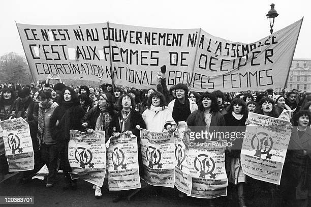 Demonstration For Abortion In Paris France On November 24 1979