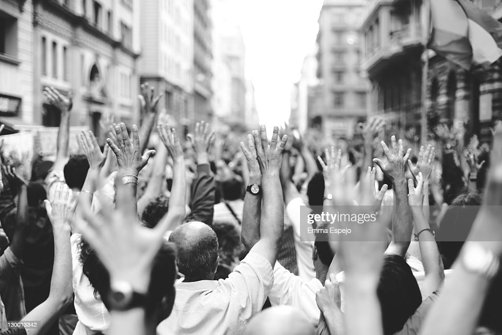 Demonstration for real democracy : Stock Photo