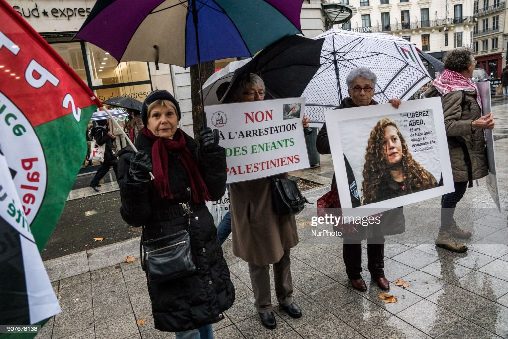 Demonstration for the release of all Palestinian prisoners in Lyon