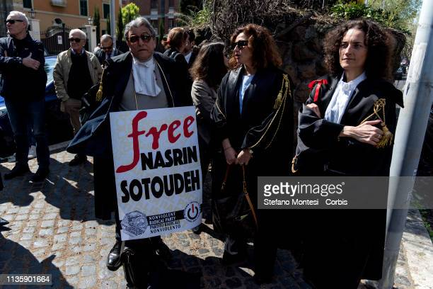 Demonstration for the release of Nasrin Sotoudeh the Iranian lawyer sentenced to 38 years in prison and 148 lashes for facts related to his...