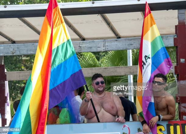 Demonstration for the rights protection and pride of LGBTI people which in Ostia a place known for significant mafia activity is also seen as a...