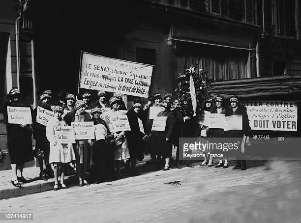 Demonstration For Women'S Suffrage In Paris