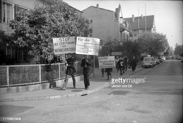 Demonstration gegen Verlust von günstigem Wohnraum Bern 1973