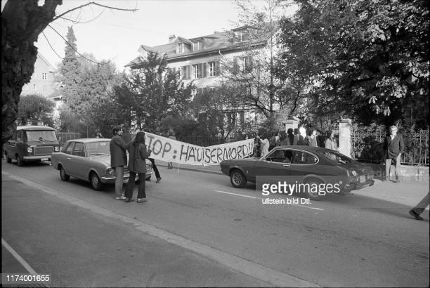 Demonstration gegen Verlust von preiswertem Wohnraum Bern 1975