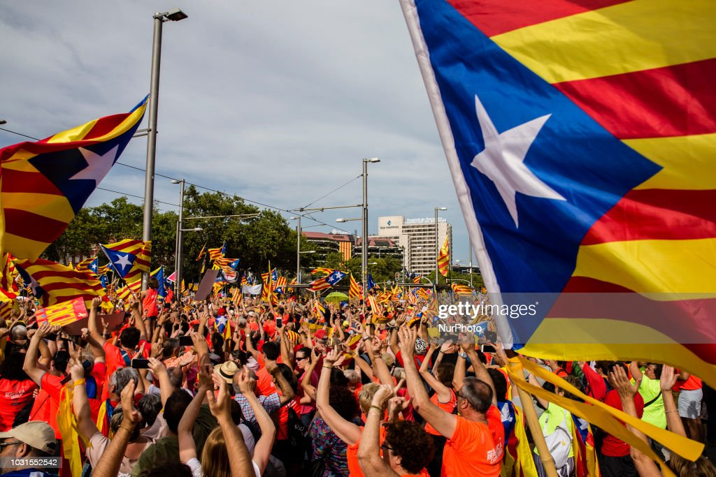 Catalan National Day Celebrations : News Photo