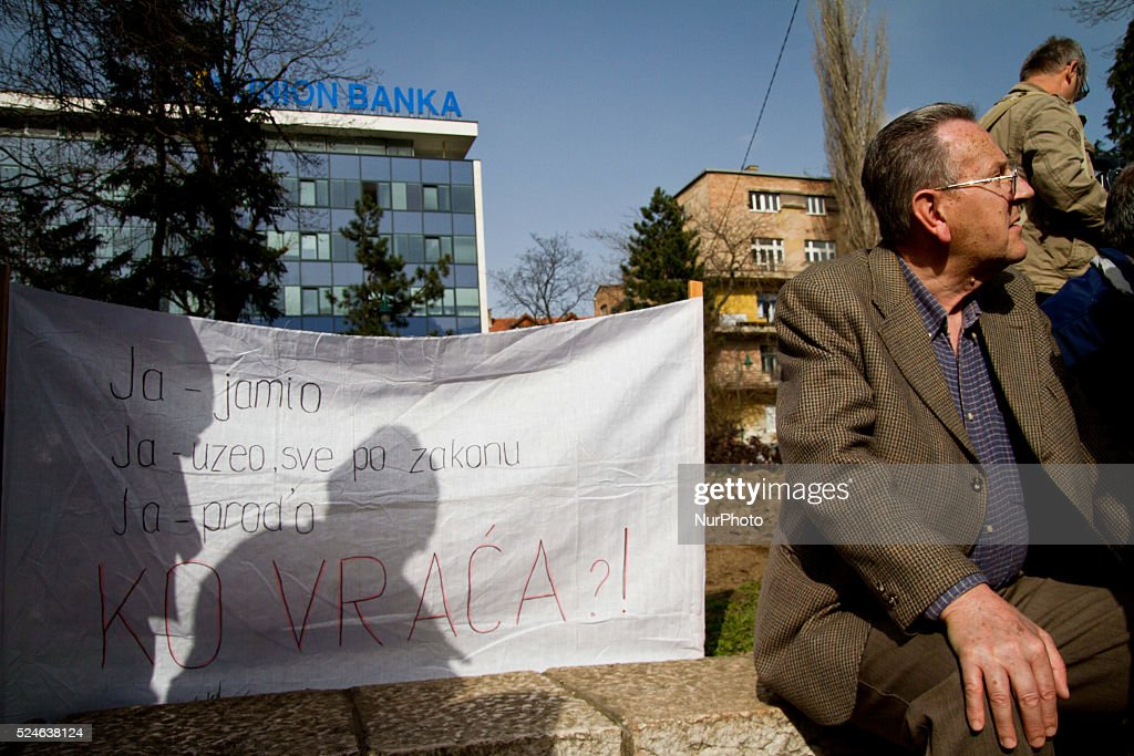 Protest in Sarajevo : News Photo