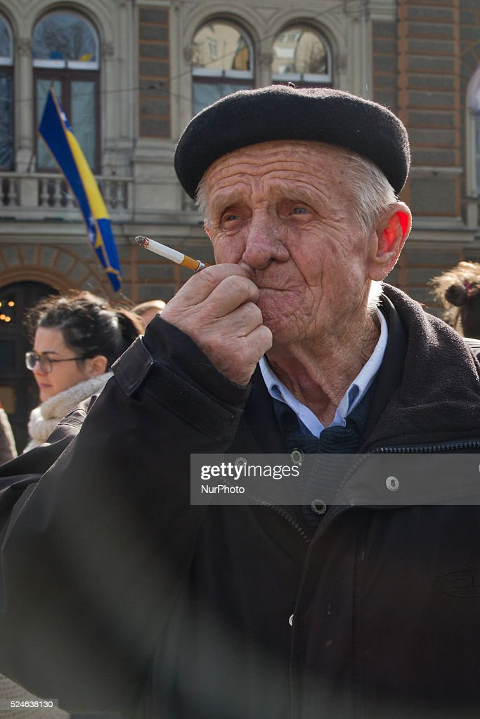 Protest in Sarajevo : News Photo