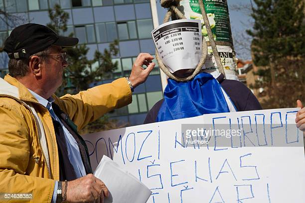 Demonstration in front of the Presidential Palace on the 12th day of the protests against high rate ofunemployement corruption of the elites and...