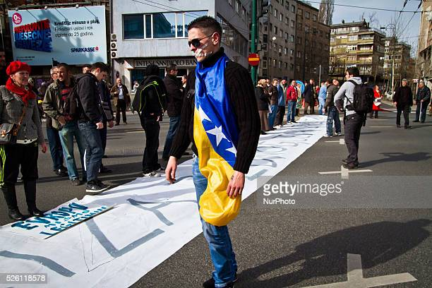 Demonstration in front of the Presidential Palace on the 14th day of the protests against high rate of unemployement corruption of the elites and...
