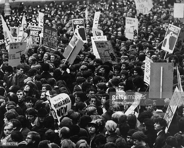 Demonstration in Grosvenor Square against the Vietnam War, 27th October 1968.