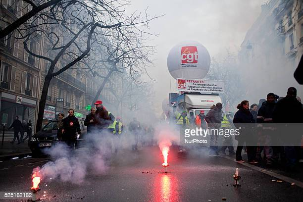 Demonstration in Paris for a social justice on February 6 2014