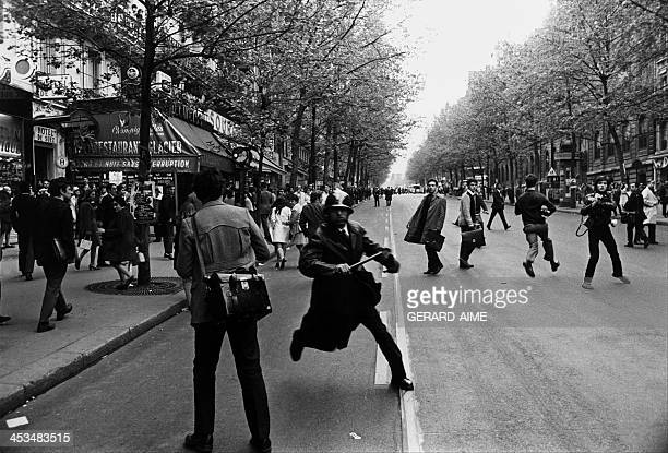 Demonstration in Paris, France on May 3, 1968.