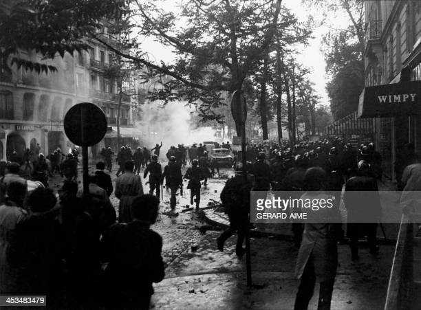 Demonstration in Paris, France on May 6, 1968.