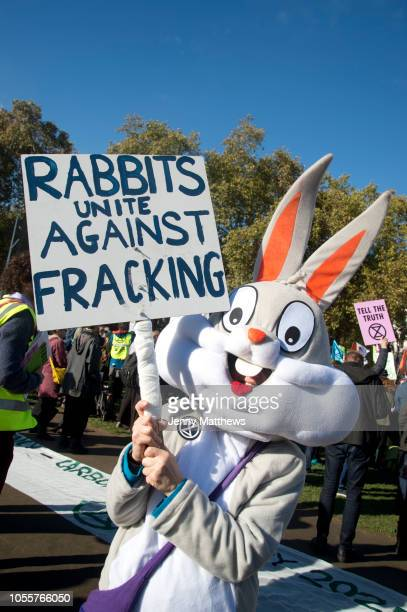 Demonstration in Parliament Square called by Extinction Rebellion to protest the governments inaction on climate change and calling for a mass...
