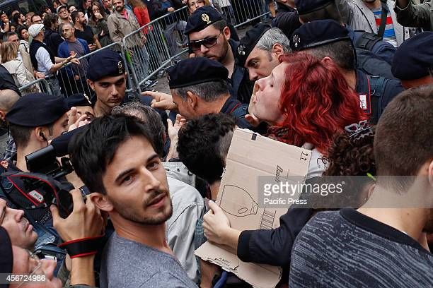 Demonstration in Piazza Carignano of the Sentinels defenders of the traditional family against the rights of homosexuals Animated the protest from...