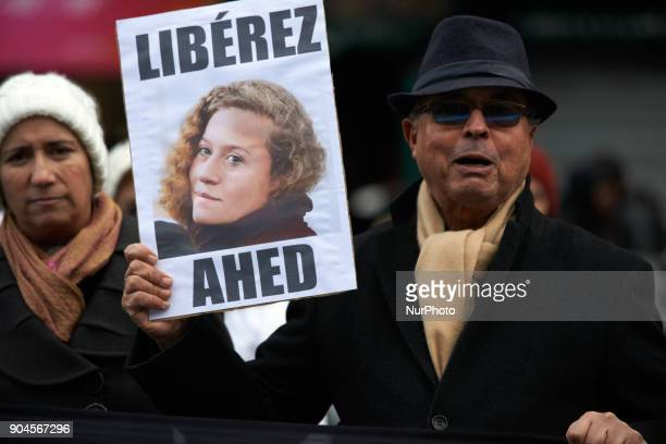 Demonstration In Support Of Ahed Tamimi in Toulouse France on 13 January 2018 After US President Donald Trump recognized Jerusalem as Israels capital...