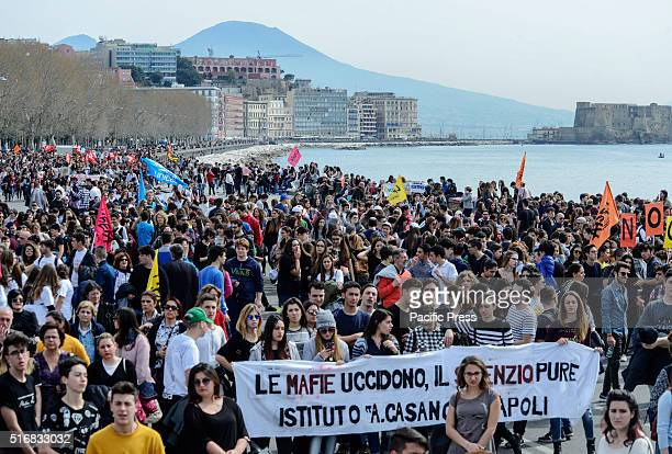 Demonstration march against the Mafia and the Camorra and in justice and memory of the innocent victims in Naples