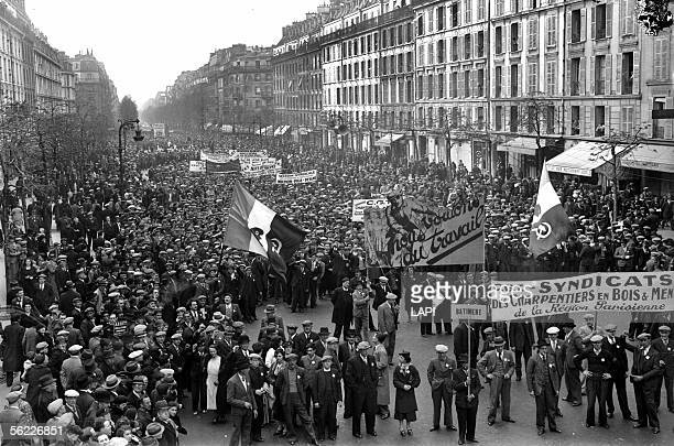 Demonstration of the French Trade Union Paris May Ist 1937