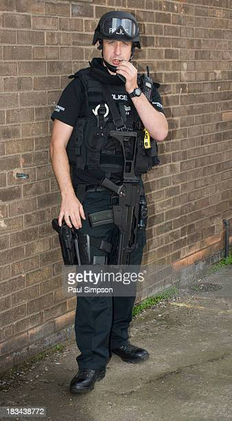Demonstration of the gear worn by the Humberside Police that are called out to a major terrorist incident or reports of gun crime in the area.