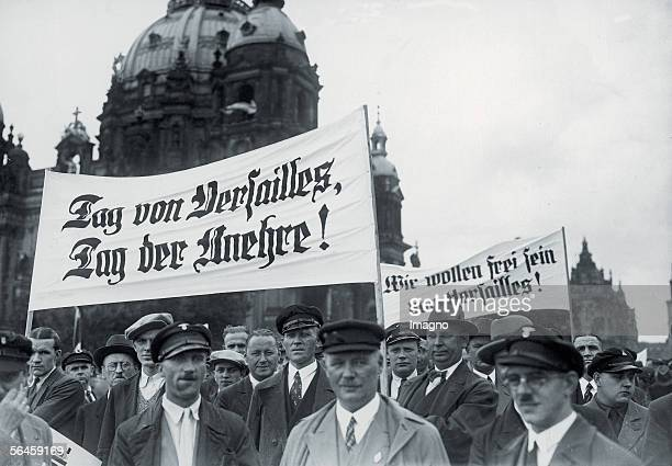 Demonstration of the NSDAP against the 14th anniversary of the peace treaty of Versailles in the Lustgarten of Berlin 1938 [Tag von Versailles Tag...