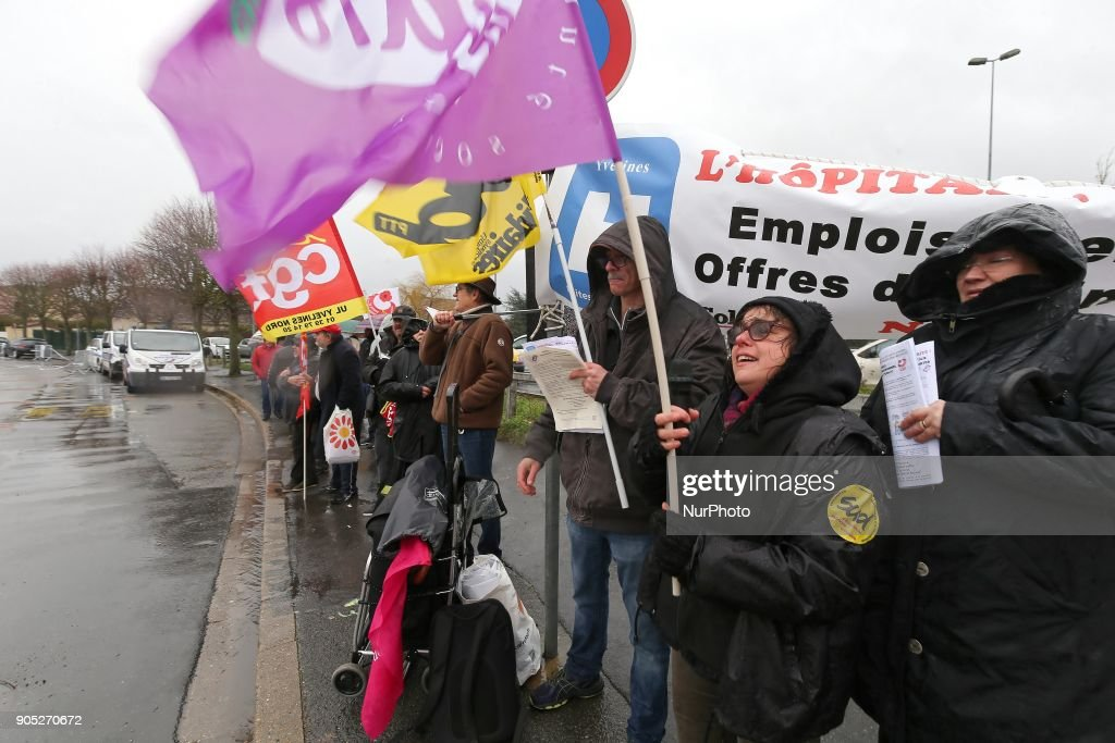 Hospital Employees Union protest in Paris