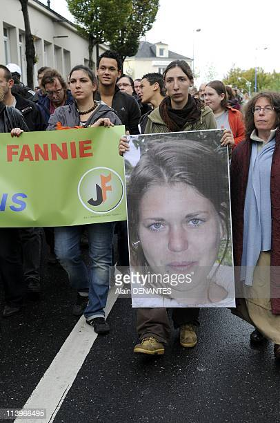 Demonstration to support Jeremie and Fannie, French young couple missing in Bolivia since late August 2010 in Nort sur Erdre, France on October 02,...
