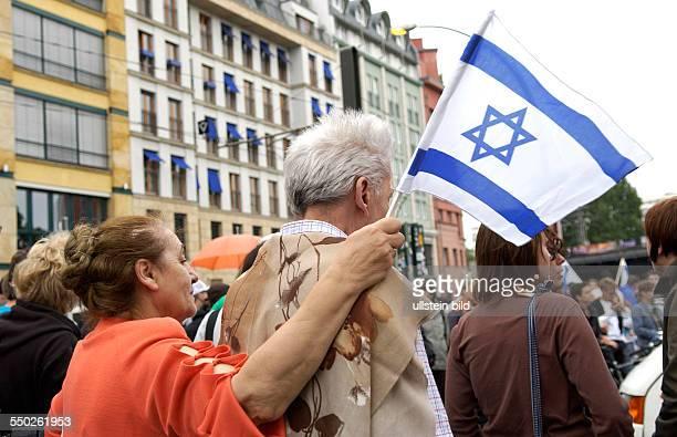 Demonstration unter dem Motto Solidarität mit Israel in Berlin