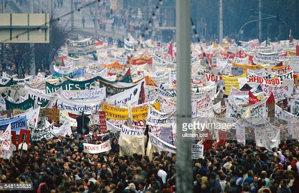 Demonstrations in East Germany 1989 Ca one million people demonstrating in the center of East Berlin for political changes
