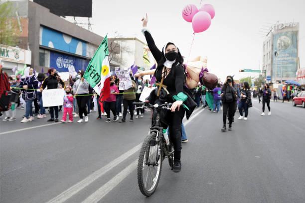 MEX: International Women's Day Demonstration In Monterrey