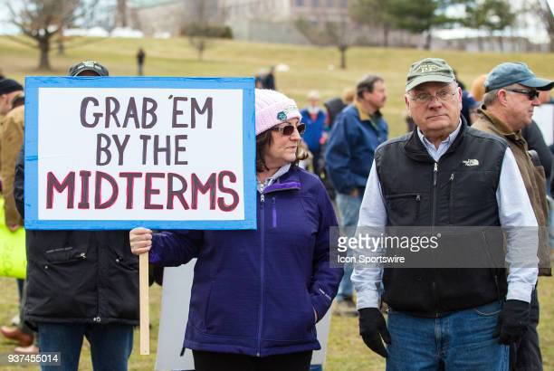 A demonstrator display her sign during the March For Our Lives Rally on March 24 at the Connecticut State Capitol in Hartford CT