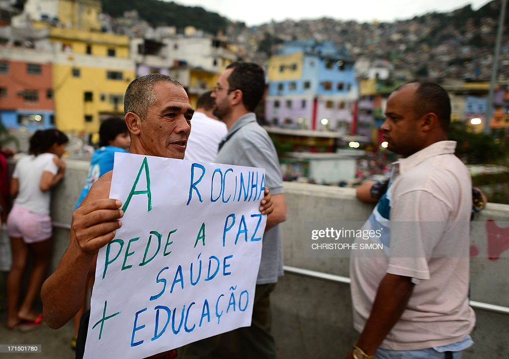 BRAZIL-CONFED-PROTEST : News Photo