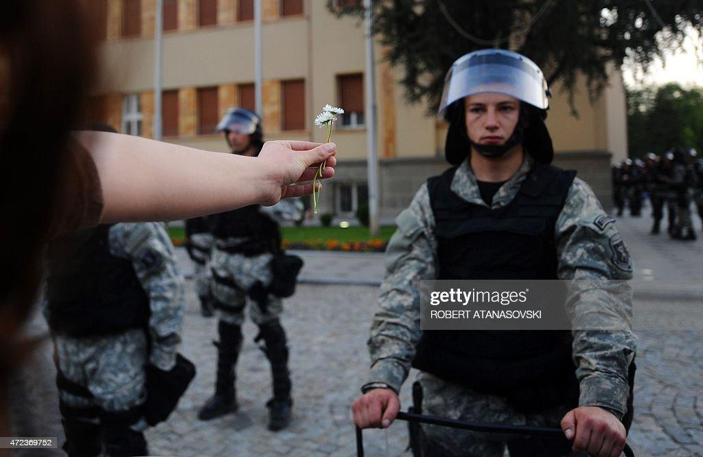 MACEDONIA-POLITICS-OPPOSITION-PROTEST : News Photo
