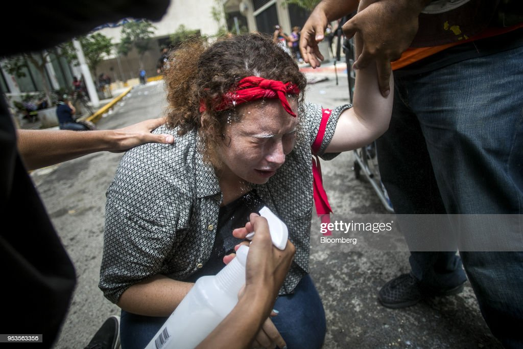 Demonstrators Protest Austerity Measures As The Island Struggles To Emerge From Hurricane Maria : News Photo