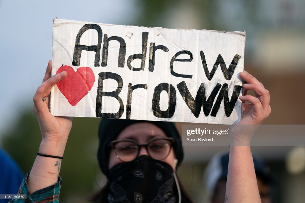 Community Protests In Elizabeth City, North Carolina Over Police Killing of Andrew Brown Jr. : News Photo